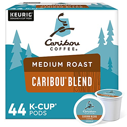 Caribou Coffee Caribou Blend, Single-Serve Keurig K-Cup Pod, Medium Roast Coffee, 44 Count