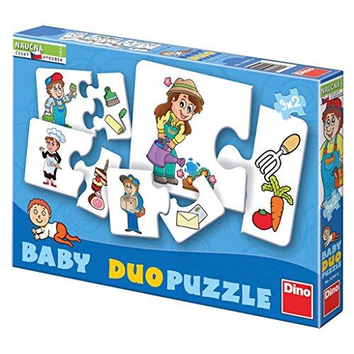 Dinotoys 325074 hoogwaardige puzzel voor baby's 9 x 2 beroepen