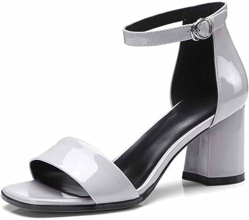 Femmes Ankle Strap Pompes 2018 Printemps Nouveau Simple Peint Sandales Sandales Boucle élégance D'été OL Talons Grande Taille  boutique en ligne