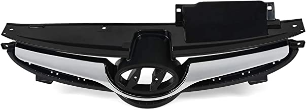 VRracing 1PCS Front Bumper Grille Radiator Grille Chrome Black For Hyundai Elantra 2014 2015 2016
