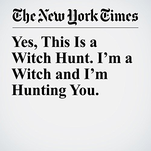 Yes, This Is a Witch Hunt. I'm a Witch and I'm Hunting You. copertina