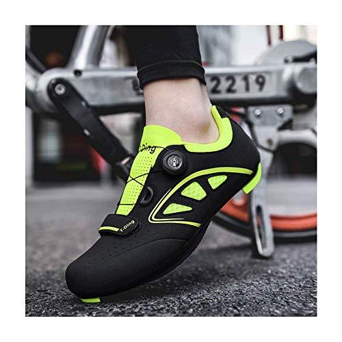 HAOLIN - Zapatillas de ciclismo de carretera con autobloqueo profesional para bicicleta...