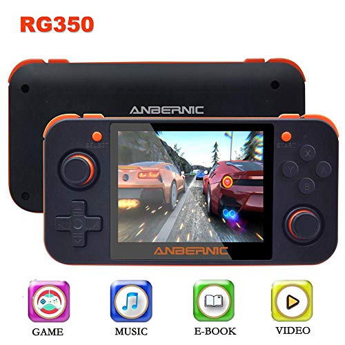 Handheld Game Console, RG350 3.5 inch IPS Screen Retro Game Player, OpenDingux Tony System Classic Games, Music Video Player E-Book Reader 16GB