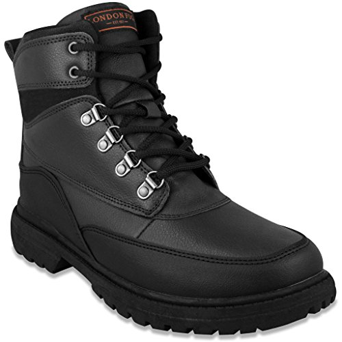 LONDON FOG Mens Camden Waterproof Cold Weather Snow Boot Black 10 M US
