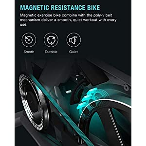 OVICX Stationary Bike with Magnetic Resistance Exercise Bikes Indoor Cycling Bike Fully Adjustable Comfortable Seat and Handlebar for Home Cardio Workout
