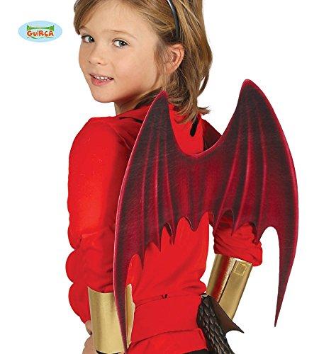 Guirca Fledermaus Teufel Flügel f. Kinder Halloween Zubehör Horror Fledermausflügel Party