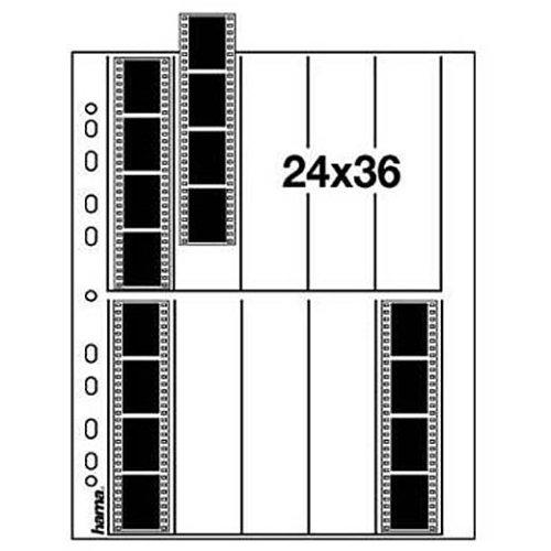 Hama Negativarchivierungshüllen (Pergamin, für je 10 Kleinbild-Streifen à 4 Bilder, 25 St.)