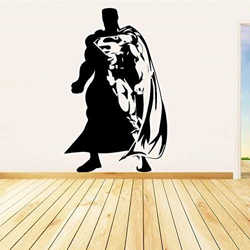Superhéroe vinilo vinilo hombre con logotipo S Batman etiqueta de la pared