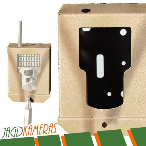 DÖRR Metallschutzgehäuse für Snapshot für Snapshot EXTRA/MOBIL + Messer + LED Taschenlampe für Wildkamera Jagdkamera Überwachungskamera Kamera