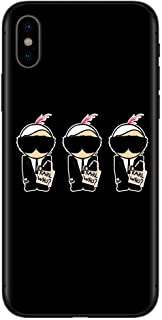 TAIKESEN Karl Lagerfeld Phone case Compatible with iPhone 11 Pro MAX XS Max XR X 8 6s 7Plus Case, Shockproof Anti-Slip Cute ,Clear Design Pattern Funny, Slim Fit Soft TPU Bumper Case,6.