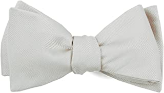 The Tie Bar Grosgrain Solid 100% Woven Silk Bow Tie