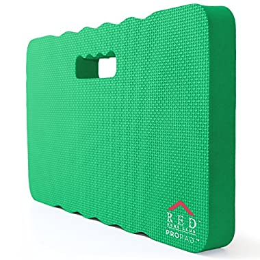 RED Home Club Thick Kneeling Pad - Garden Kneeler for Gardening, Bath Kneeler for Baby Bath, Kneeling Mat for Exercise & Yoga - EXTRA LARGE (XL) 18x11, THICKEST 1-½ , Green