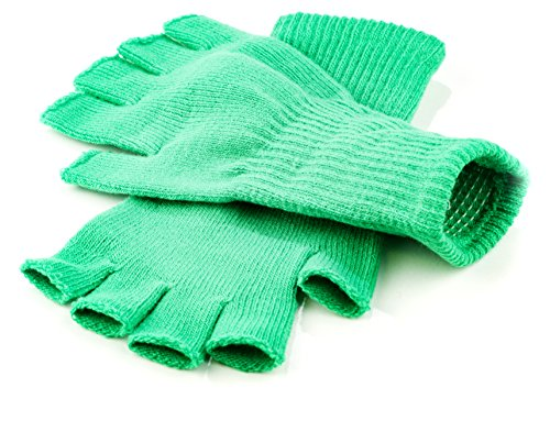 Funny Guy Mugs Warm Stretchy Knit Fingerless Gloves for Women and Men, Green, One Size Fits Most