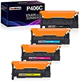 Zambrero compatibile con la cartuccia toner sostitutiva per Samsung CLT-P406C CLT-406S toner per Xpress C460W C460FW C410W CLP-360 CLP-360 CLP-365 CLP-365W CLP-368 CLX-3300 CLX-3305 stampante (4 Pack)