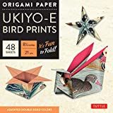 """Origami Paper 8 1/4"""" (21 cm) Ukiyo-e Bird Print 48 Sheets: Tuttle Origami Paper: High-Quality Double-Sided Origami Sheets Printed with 8 Different Designs: Instructions for 6 Projects Included"""
