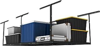 FLEXIMOUNTS 4×8 Overhead Garage Storage Rack Adjustable Ceiling Garage Rack Heavy..