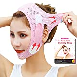 Double Chin Reducer, Face Slimming Strap, V Shaped Mask Chin UP Face Lifting Belt for women, Anti- Wrinkle Face Mask, Lifting Bandage for Shaggy Skin - EDCBMB