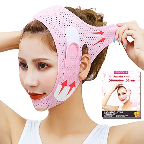 Double Chin Reducer, Face Slimming Strap, V Shaped Mask Chin UP Face Lifting Belt for women, Anti- Wrinkle Face Mask, Lifting Bandage for Shaggy Skin – EDCBMB