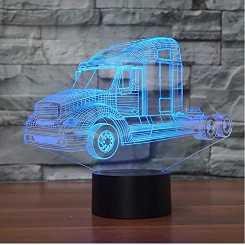 Lámpara de noche de ilusión 3D Luz de noche colorida de coche para decoración de habitación Luz de noche llevada acrílica de vehículo