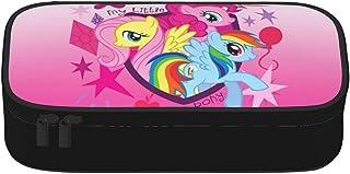 My Little Pony Trousse à crayons grande capacité avec double fermeture éclair pour bureau, papeterie, maquillage, avec com...
