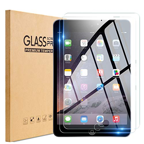 TopEsct Tempered Glass Screen Protector Compatible with iPad Mini 1/2/3[2Pack],9H Hardness,Ultra Clear,Anti-Scratch (Mini321)