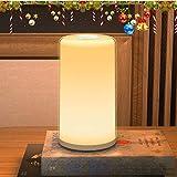 【最新タッチセンサー式】ベッドサイドランプ テーブルランプ ナイトライト 調光調色 暖白+RGB変換ライト 間接照明 インテリア 常夜灯 授乳灯 連続照明 目に優しい おしゃれ ギフト 雰囲気作り日本語説明書付き