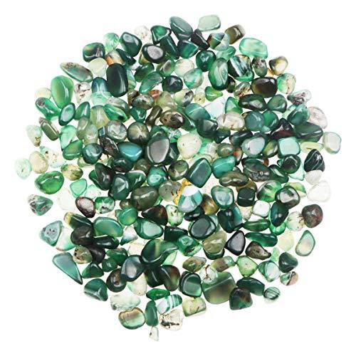 YiYa Verde Pietra di Agata Ghiaia Pietra Gemma Quarzo Cristallo Naturale Usato per la Decorazione Domestica Vaso Riempito Piscina Piante in Vaso Decorazione (Circa 680 g/Borsa)