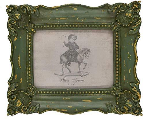 Marcos de fotos barrocos de 15,2 x 20,3 cm x 15,2 cm, color verde musgo