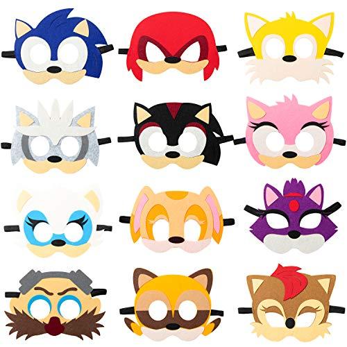 Sonic the Hedgehog Masks (Pack of 12)