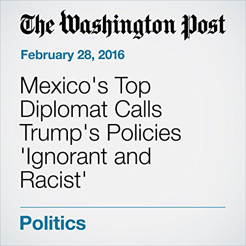 Mexico's Top Diplomat Calls Trump's Policies 'Ignorant and Racist' audiobook cover art
