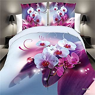 hjfigurine 4PCS Queen Size Duvet Cover Set Printing Bedding Set