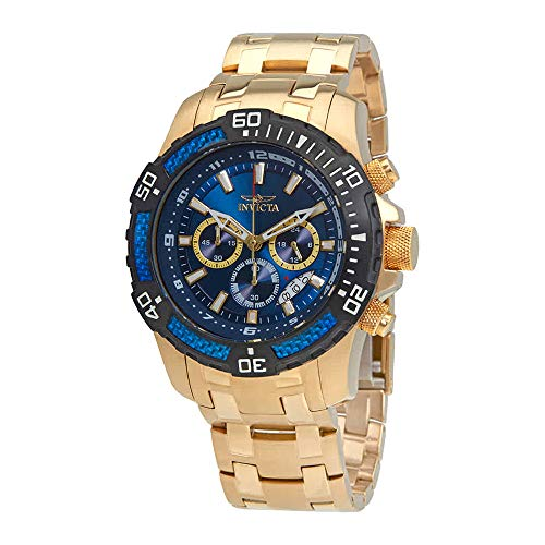 Men's Pro Diver Quartz Watch with Stainless Steel Strap, Gold, 26 (Model: ) - Invicta 24856
