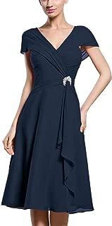 TalinaDress Womens Short Chiffon V Neck Bridesmaid Dress Prom Gown E069LF
