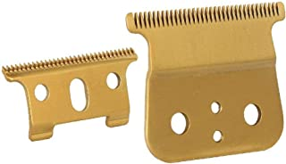 Professional Gold T Outliner Replacement, Double Gold wide Timmer Blades for Andis T-Outliner Replacement andis gtx replacement T-Blade (Gold T blade + Gold steel blade)