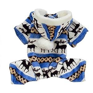 Luwu-Store Gris Hiver Chaud Pet Dog Vêtements Costume de cerf Vêtements Veste Sweat à Capuche Manteau Taille S