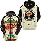 9Yourtime Men's Alien Jacket UFO Hoodie 3D All Over Printed Sweatshirt, L