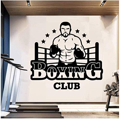 Pegatinas De Pared Boxing Club Wall Vinyl Club Decor Girls Bedroom Sticker Para Gym Company Decoración Mural Poster Decal 43X40cm ✅