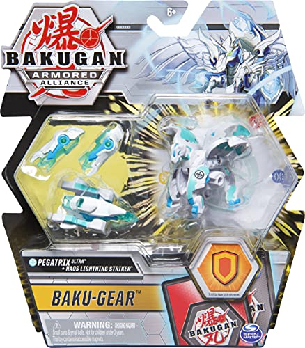 Bakugan Ultra, Haos Pegatrix with Transforming Baku-Gear, Armored Alliance 3-inch Tall Collectible Action Figure