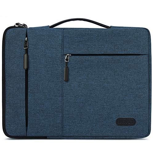 """Lubardy Custodia PC 13-14 Pollici Impermeabile Antiurto Borsa Porta PC per Macbook Air/Pro 13-13,3 """"Blu Scuro"""