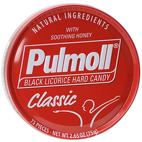 PULMOLL BLACK LICORICE HARD CANDY PACK OF 10