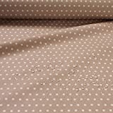 Stoff Baumwolle Acryl Punkte klein beige weiß Regenjacke