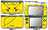 Pokemon Pikachu Classic Skin Sticker Decal Cover for NEW Nintendo 3DS XL (2015)