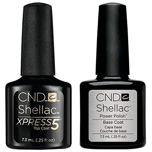 CND Shellac Smalti Semipermanente Xpress5 Top Coat & Base Coat- 2x7.3 ml