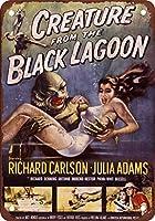 ブラックラグーンヴィンテージルックの1954年の生き物の再現メタルティンサイン