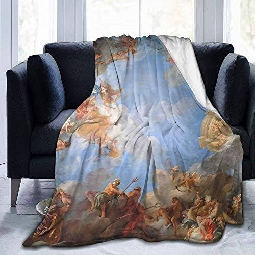 N \ A Manta súper suave de Fresco of Angels in The Palace of Versalles para sofá, manta de forro polar de microfranela, para adultos y niños, manta de cama de 50 pulgadas x 40
