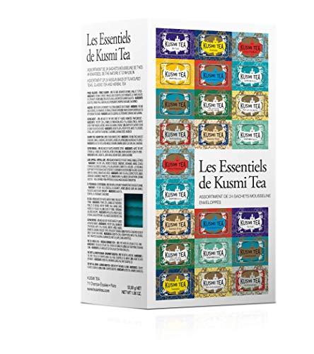 (KUSMI TEA) クスミティー エッセンシャル ティーバッグ (個別包装あり) 2.2g×24袋入り (12種類、各2袋入り) [正規輸入品] ESSEN04