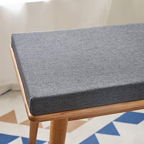 BoruisX Gartenbank-Kissen für 2- und 3-Sitzer, für Möbel im Innen- und Außenbereich, tiefe Sitzfläche, Terrassenkissen, Outdoor, Couch, Stauraum, Bankkissen, dick 4 cm (150 x 35 cm, dunkelgrau)