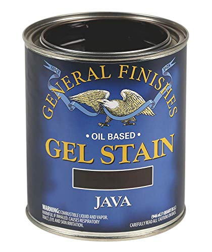General Finishes Oil Base Gel Stain, 1 Quart, Java