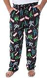 Pantalones de pijama de sueño vintage de Marvel para hombre, con diseño de calavera roja Thanos Hela Ultron - Negro - X-Large