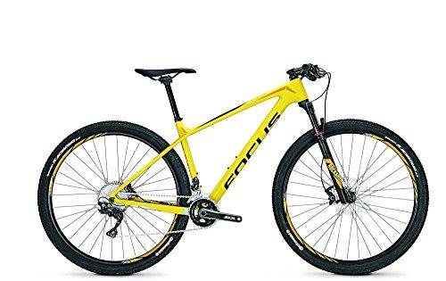 Mountainbike Focus Raven Elite 29 inch heren 22G Deore XT heren, framehoogte:54; kleur: geel/zwart